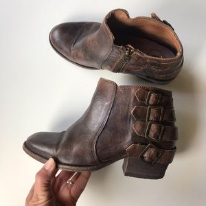 H by Hudson ankle boots straps buckle Sz 36